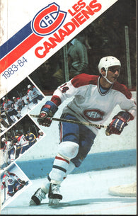 1983-84 Montreal Canadiens Media Guide Yearbook Guy Lafleur Larry Robinson Bob Gainey