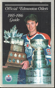 1985-86 Edmonton Oilers Team Media Guide Yearbook Wayne Gretzky Paul Coffey Jari Kurri
