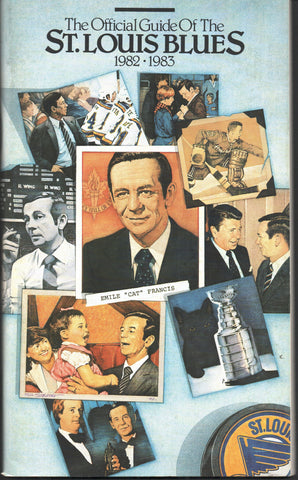 1982-83 St. Louis Blues Media Guide Yearbook Guy Lapointe Joe Mullen Bernie Federko