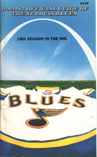 1984-85 St. Louis Blues Media Guide Yearbook Doug Gilmour Joe Mullen Bernie Federko