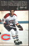 1981-82 Montreal Canadiens Media Guide Yearbook Guy Lafleur Bob Gainey Larry Robinson