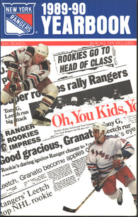 1989-90 New York Rangers Media Guide Yearbook Brian Leetch Marcel Dionne John Vanbiesbrouck