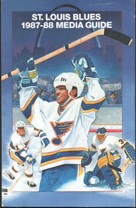 1987-88 St. Louis Blues Media Guide Yearbook Doug Gilmour  Bernie Federko Greg Millen