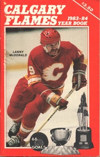 1983-84 Calgary Flames Media Guide Yearbook Lanny McDonald Reggie Lemelin Don Edwards