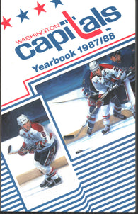 1987-88 Washington Capitals Media Guide Rod Langway Mike Gartner Scott Stevens Dale Hunter