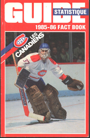 1985-86 Montreal Canadiens Media Guide Yearbook Chris Chelios Larry Robinson Bob Gainey