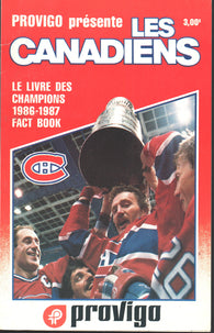 1986-87 Montreal Canadiens Media Guide Yearbook Chris Chelios Larry Robinson Patrick Roy
