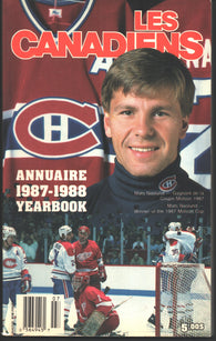 1987-88 Montreal Canadiens Media Guide Yearbook Chris Chelios Larry Robinson Patrick Roy
