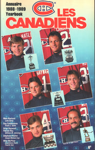 1988-89 Montreal Canadiens Media Guide Yearbook Guy Carbonneau Larry Robinson Patrick Roy