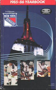 1985-86 New York Rangers Media Guide Yearbook Barry Beck John Vanbiesbrouck Mark Pavelich