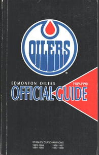1989-90 Edmonton Oilers Team Media Guide Yearbook Mark Messier Grant Fuhr Jari Kurri