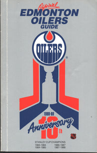 1988-89 Edmonton Oilers Team Media Guide Yearbook Mark Messier Grant Fuhr Jari Kurri