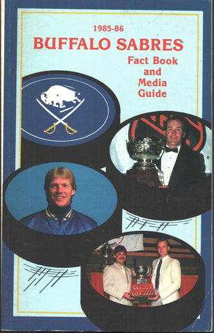1985-86 Buffalo Sabres Media Guide Yearbook Dave Andreychuk Gilbert Perreault Phil Housley