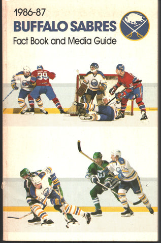 1986-87 Buffalo Sabres Media Guide Yearbook Phil Housley Dave Andreychuk Tom Barrasso