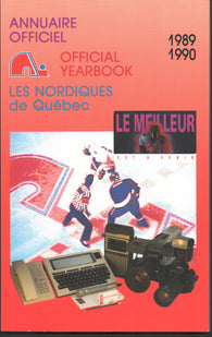 1989-90 Quebec Nordiques Yearbook Media Guide Peter Stastny Michel Goulet Joe Sakic Guy Lafleur