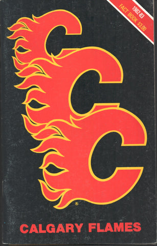 1982-83 Calgary Flames Media Guide Yearbook Lanny McDonald Al MacInnis Mike Vernon