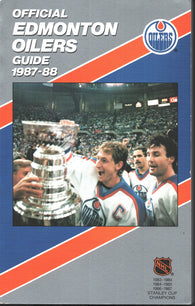1987-88 Edmonton Oilers Team Media Guide Yearbook Wayne Gretzky Mark Messier Jari Kurri