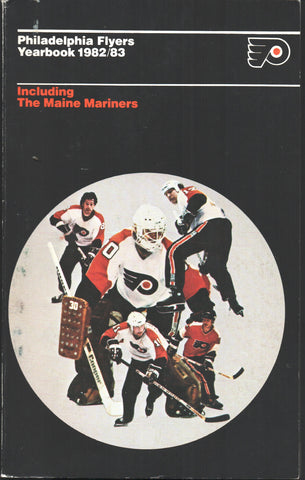 1982-83 Official Philadelphia Flyers Media Guide Yearbook Pelle Lindbergh Bobby Clarke Darryl Sittler
