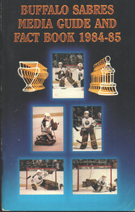 1984-85 Buffalo Sabres Media Guide Yearbook Tom Barrasso Gilbert Perreault Phil Housley