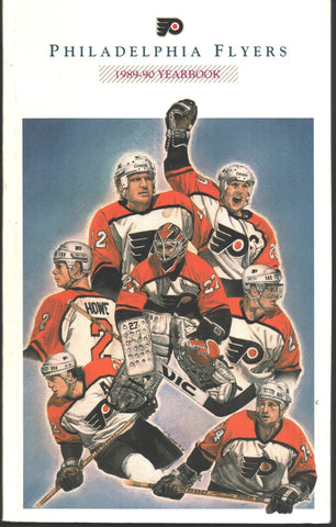 1989-90 Philadelphia Flyers Media Guide Team Yearbook Mark Howe Ron Hextall Brian Propp