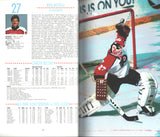 1988-89 Philadelphia Flyers Media Guide Team Yearbook Mark Howe Ron Hextall Brian Propp