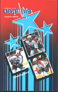 1989-90 Washington Capitals Media Guide Rod Langway Dino Ciccarelli Scott Stevens Dale Hunter