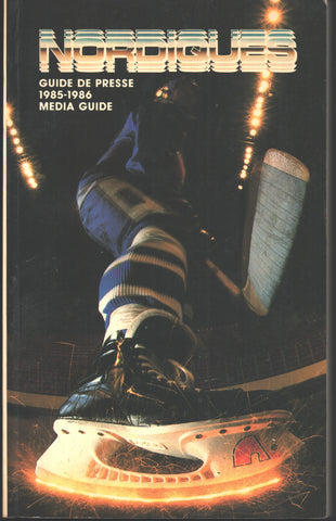 1985-86 Quebec Nordiques Yearbook Media Guide Peter Stastny Michel Goulet Dan Bouchard