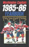 1985-86 Washington Capitals Media Guide Rod Langway Mike Gartner Scott Stevens Larry Murphy