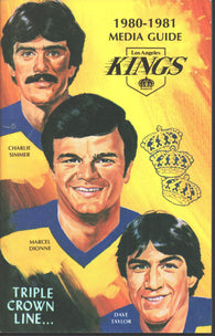 1980-81 Los Angeles Kings Media Guide Yearbook Marcel Dionne Larry Murphy Charlie Simmer