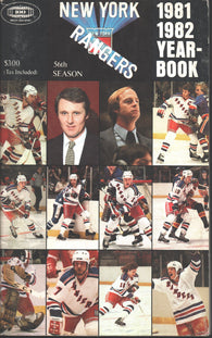 1981-82 New York Rangers Media Guide Yearbook Ron Duguay Ron Greschner John Davidson