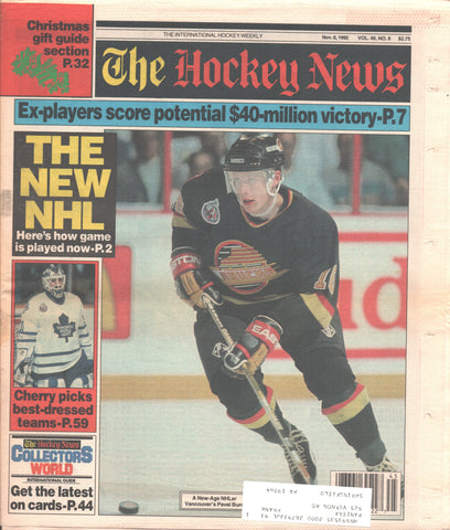 November 6, 1992 The Hockey News Vol. 46 No. 8 Pavel Bure Don Cherry Teemu Selanne