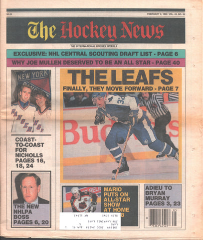 February 2, 1990 The Hockey News Vol. 43 No. 20 Mario Lemieux Bernie Nicholls Toronto Maple Leafs