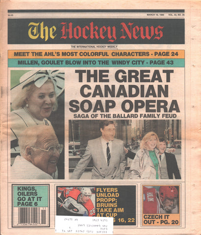 March 16, 1990 The Hockey News Vol. 43 No. 26 Brian Propp Greg Millen Michel Goulet
