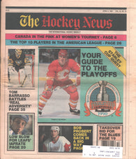 April 6, 1990 The Hockey News Vol. 43 No. 29 Tom Barrasso Bob Probert Joe Mullen Al Iafrate