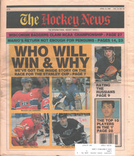 April 13, 1990 The Hockey News Vol. 43 No. 30 Igor Larionov Luc Robitaille Theo Fleury Mario Lemieux