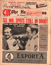 April 6, 1973 The Hockey News Vol 26 No 27 Frank Mahovlich Jean Beliveau Phil Esposito