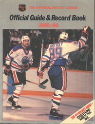 1985-86 NHL Official Hockey Guide Book Wayne Gretzky Edmonton Oilers Paul Coffey