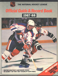 1987-88 NHL Official NHL Hockey Guide Book Wayne Gretzky Edmonton Oilers Mark Howe