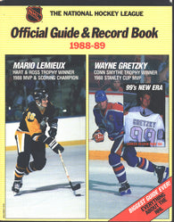 1988-89 NHL Official NHL Hockey Guide Book Wayne Gretzky Edmonton Oilers Mario Lemieux