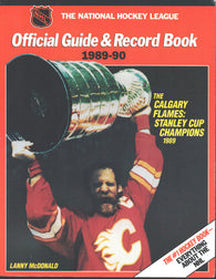 1989-90 NHL Official NHL Hockey Guide Book Lanny McDonald Calgary Flames Wayne Greztky