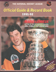 1991-92 NHL Official NHL Hockey Guide Book Mario Lemieux Pittsburgh Penguins Wayne Gretzky