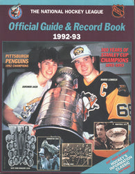 1992-93 NHL Official NHL Hockey Guide Book Mario Lemieux Pittsburgh Penguins Jaromir Jagr