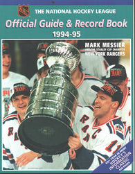 1994-95 NHL Official NHL Hockey Guide Book Mark Messier New York Rangers Esa Tikkanen