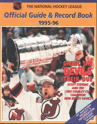 1995-96 NHL Official NHL Hockey Guide Book Scott Stevens New Jersey Devils Bruce Driver