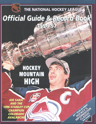 1996-97 NHL Official NHL Hockey Guide Book Joe Sakic Colorado Avalanche Mario Lemieux