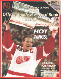 1997-98 NHL Official NHL Hockey Guide Book Steve Yzerman Detroit Red Wings Dominik Hasek