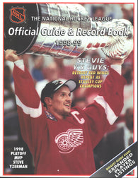 1998-99 NHL Official NHL Hockey Guide Book Steve Yzerman Detroit Red Wings Jaromir Jagr