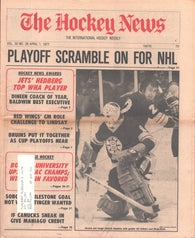 April 1, 1977 The Hockey News Vol 30 No 26 Anders Hedberg Cesare Maniago Gilles Gilbert
