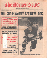 August 1977 The Hockey News Vol 30 No 36 Marcel Dionne Ken Dryden NHL/WHA Merger