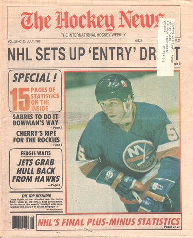 July 1979 The Hockey News Vol 32 No 35 Denis Potvin Bobby Hull Don Cherry Statistics